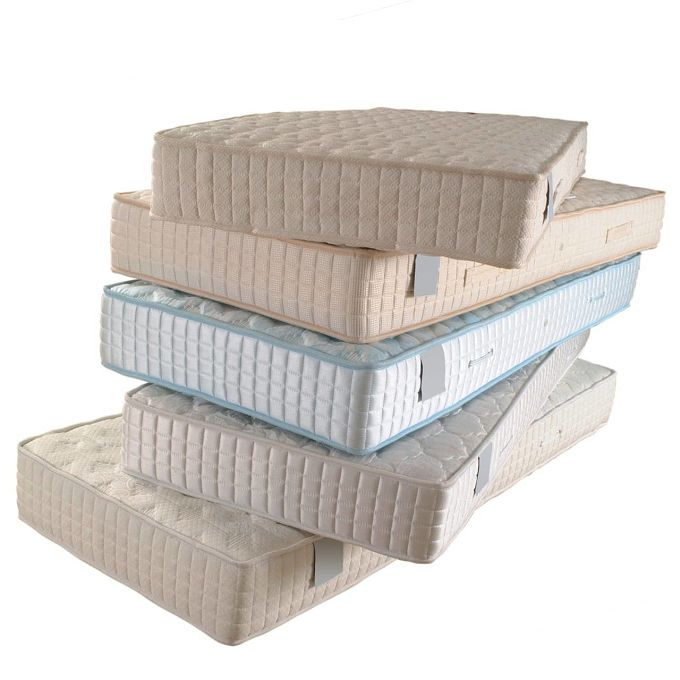 Old mattresses, made from a great variety of materials