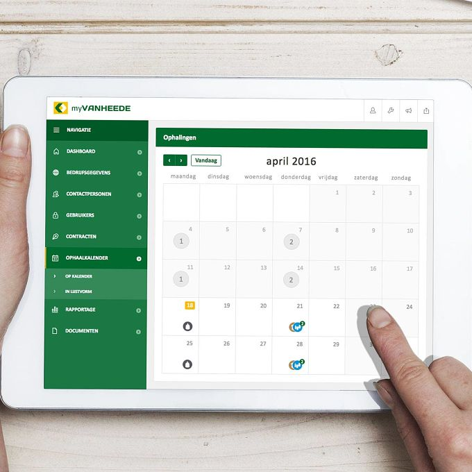 Your calendar on myVanheede